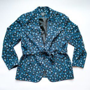 Michel Studio Printed Jacket with Sash